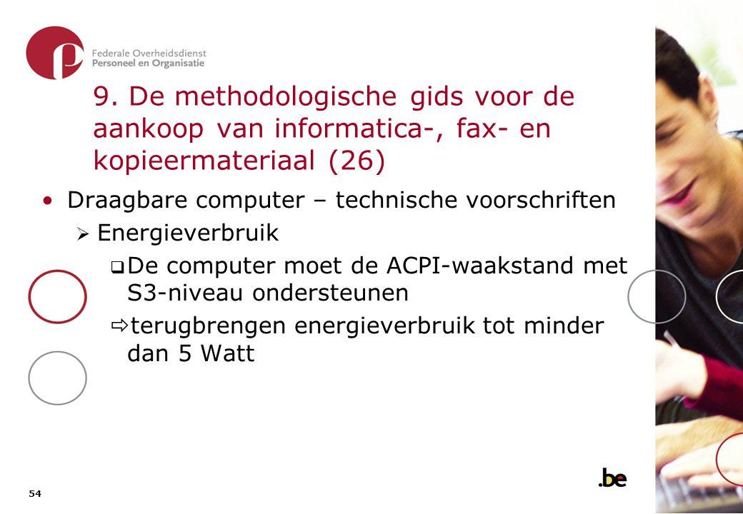 9. De methodologische gids voor de aankoop van informatica-, fax- en kopieermateriaal (27)