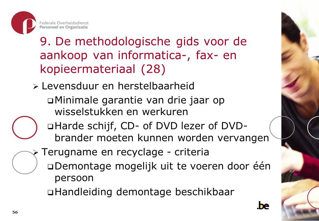 9. De methodologische gids voor de aankoop van informatica-, fax- en kopieermateriaal (29)