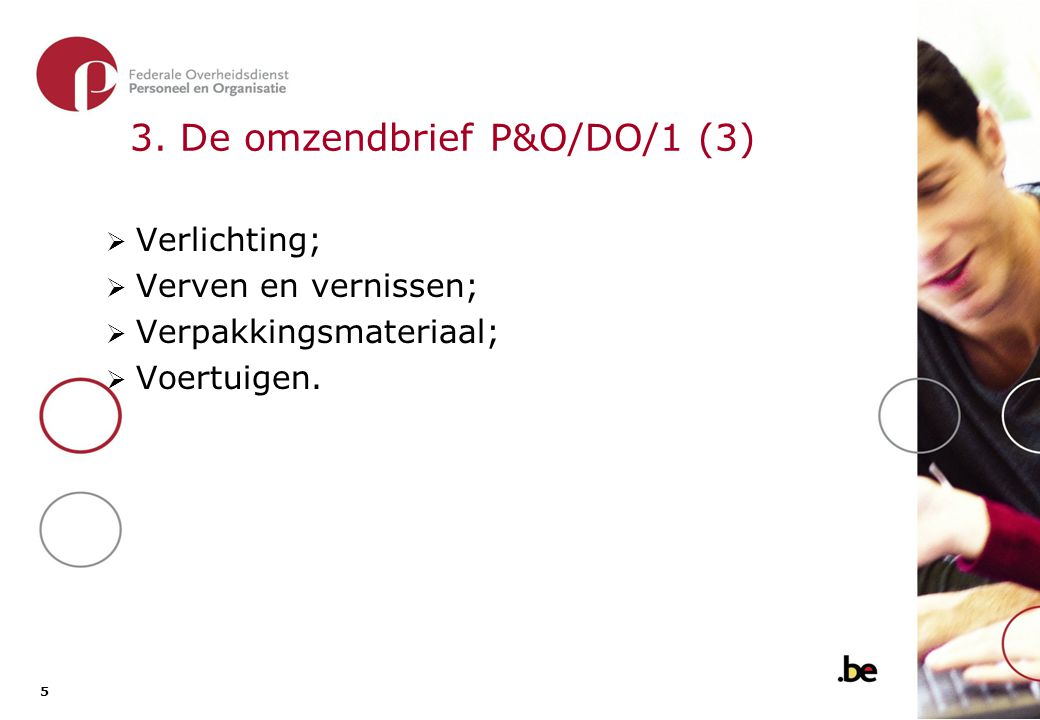3. De omzendbrief P&O/DO/1 (4)