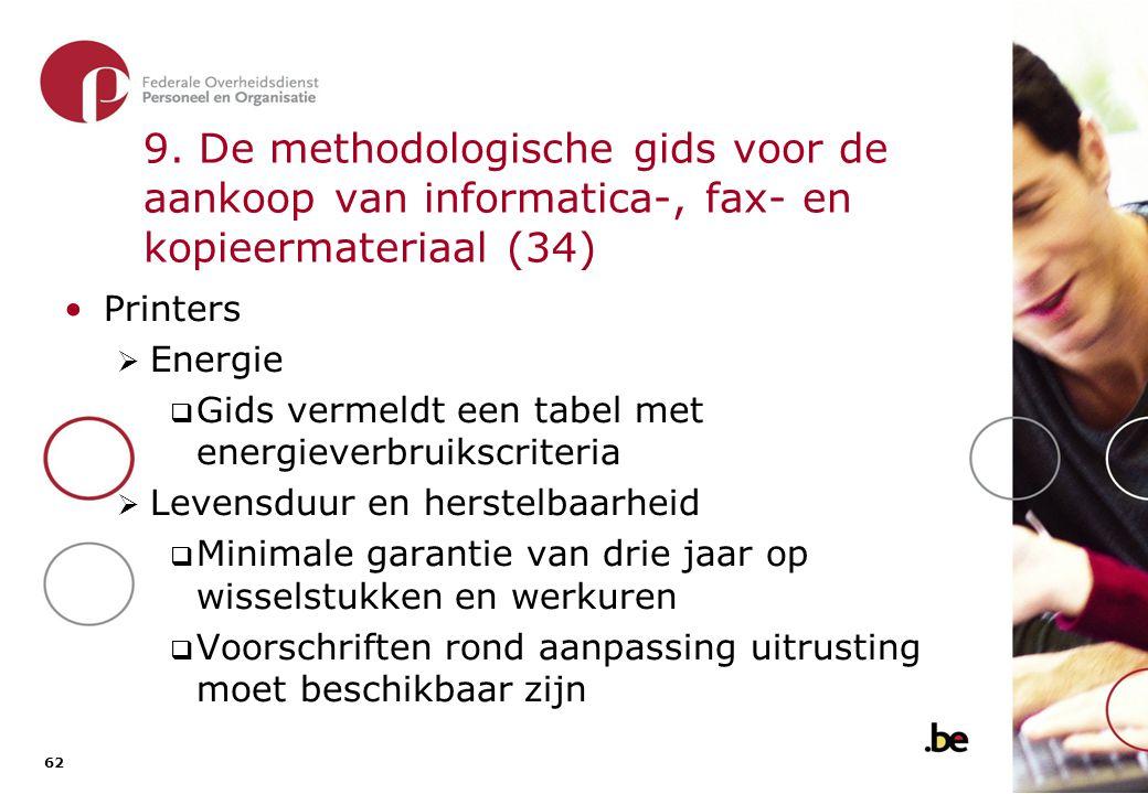 9. De methodologische gids voor de aankoop van informatica-, fax- en kopieermateriaal (35)