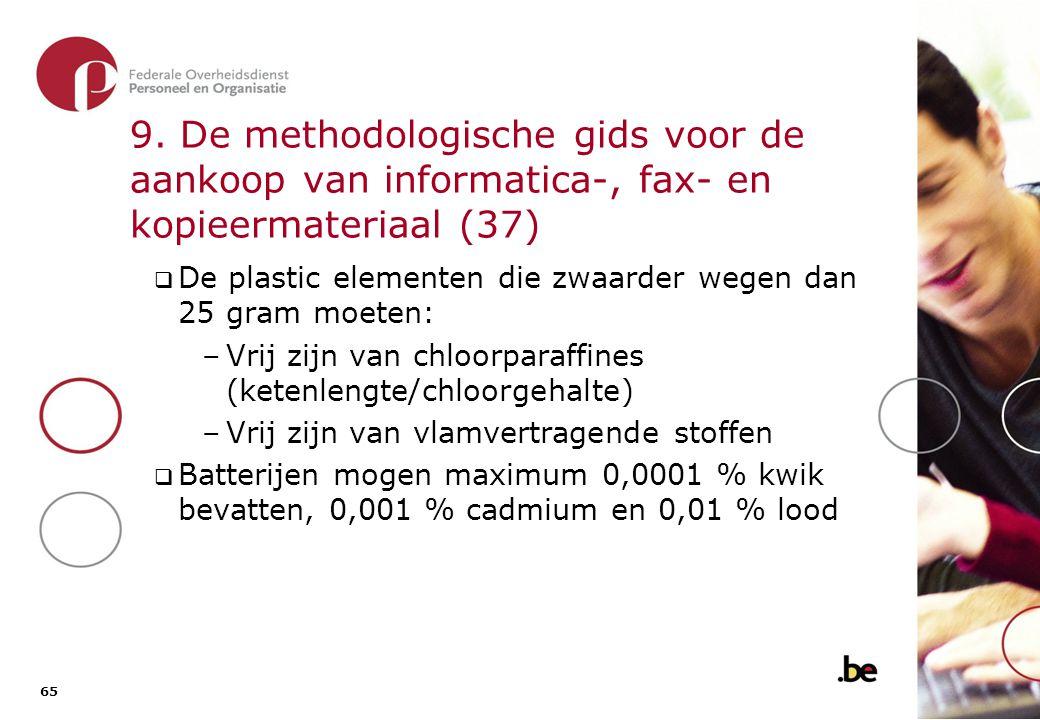 9. De methodologische gids voor de aankoop van informatica-, fax- en kopieermateriaal (38)