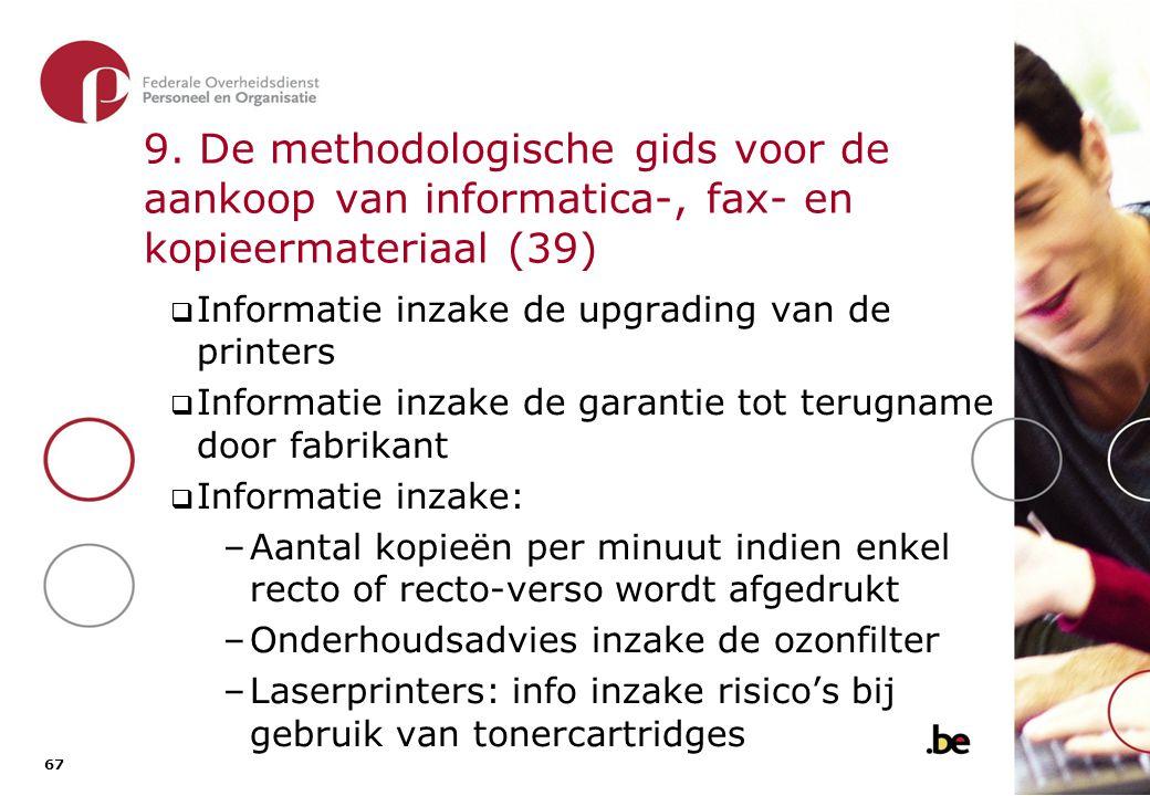 9. De methodologische gids voor de aankoop van informatica-, fax- en kopieermateriaal (40)