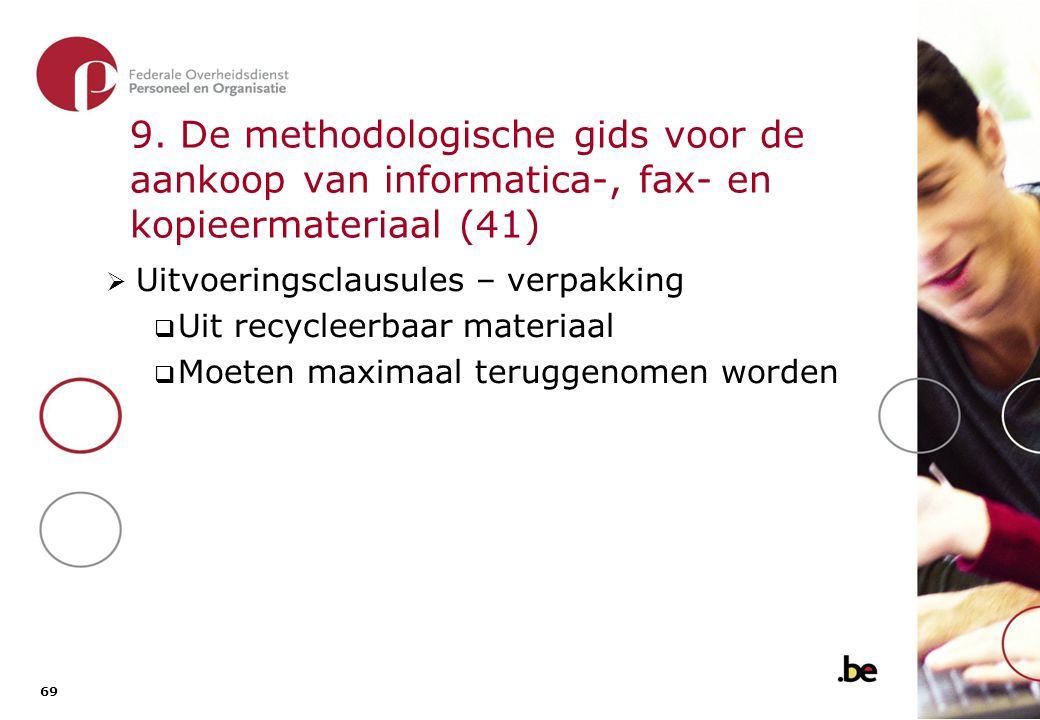 9. De methodologische gids voor de aankoop van informatica-, fax- en kopieermateriaal (42)