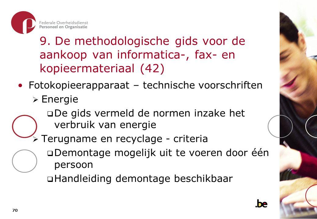 9. De methodologische gids voor de aankoop van informatica-, fax- en kopieermateriaal (43)