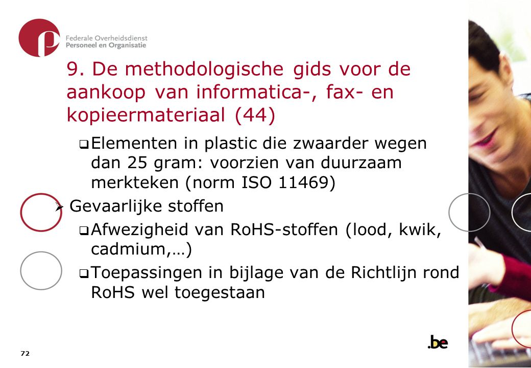 9. De methodologische gids voor de aankoop van informatica-, fax- en kopieermateriaal (45)