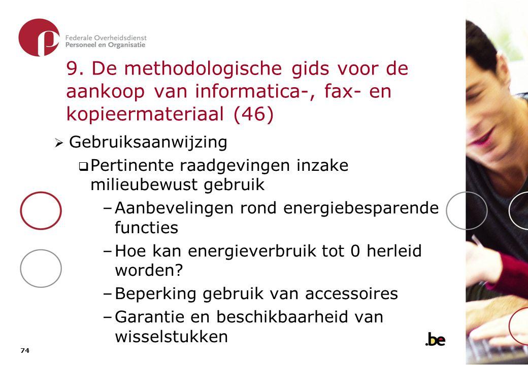 9. De methodologische gids voor de aankoop van informatica-, fax- en kopieermateriaal (47)