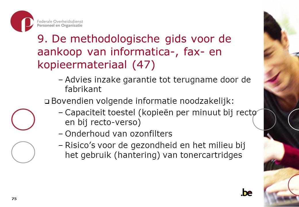 9. De methodologische gids voor de aankoop van informatica-, fax- en kopieermateriaal (48)