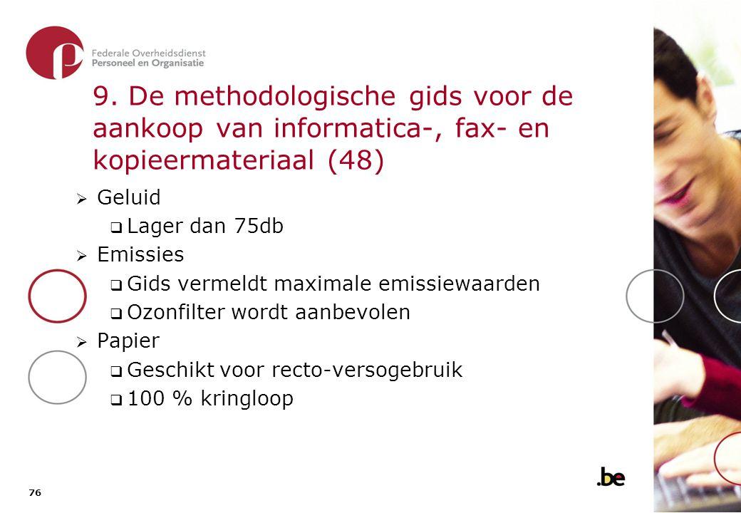 9. De methodologische gids voor de aankoop van informatica-, fax- en kopieermateriaal (49)