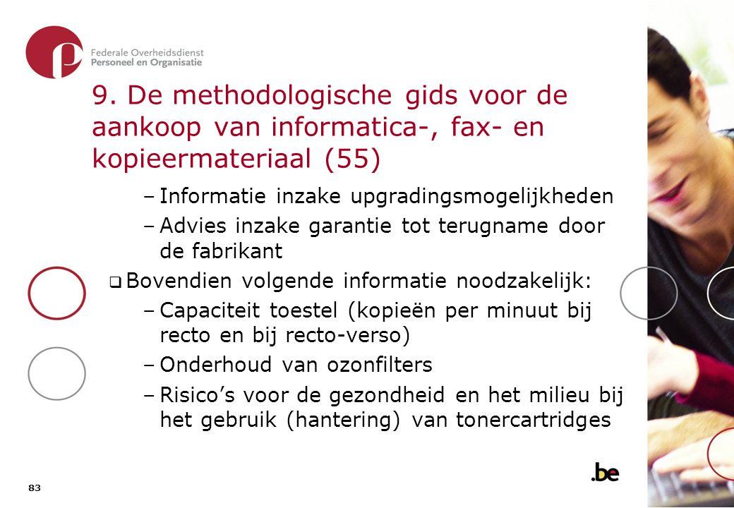 9. De methodologische gids voor de aankoop van informatica-, fax- en kopieermateriaal (56)