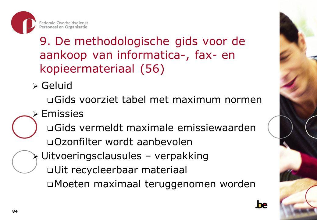 9. De methodologische gids voor de aankoop van informatica-, fax- en kopieermateriaal (57)