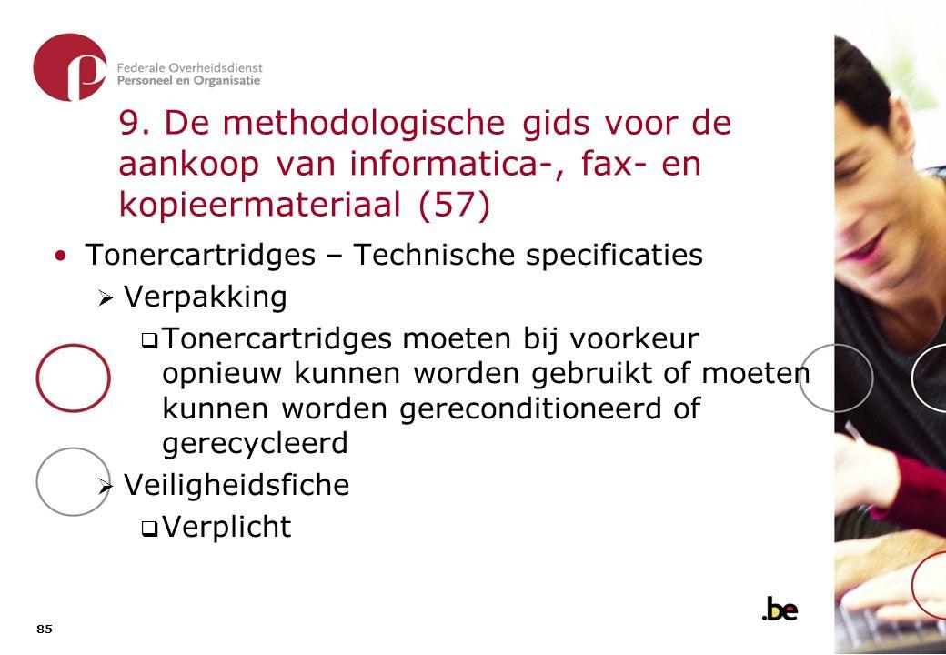 9. De methodologische gids voor de aankoop van informatica-, fax- en kopieermateriaal (58)