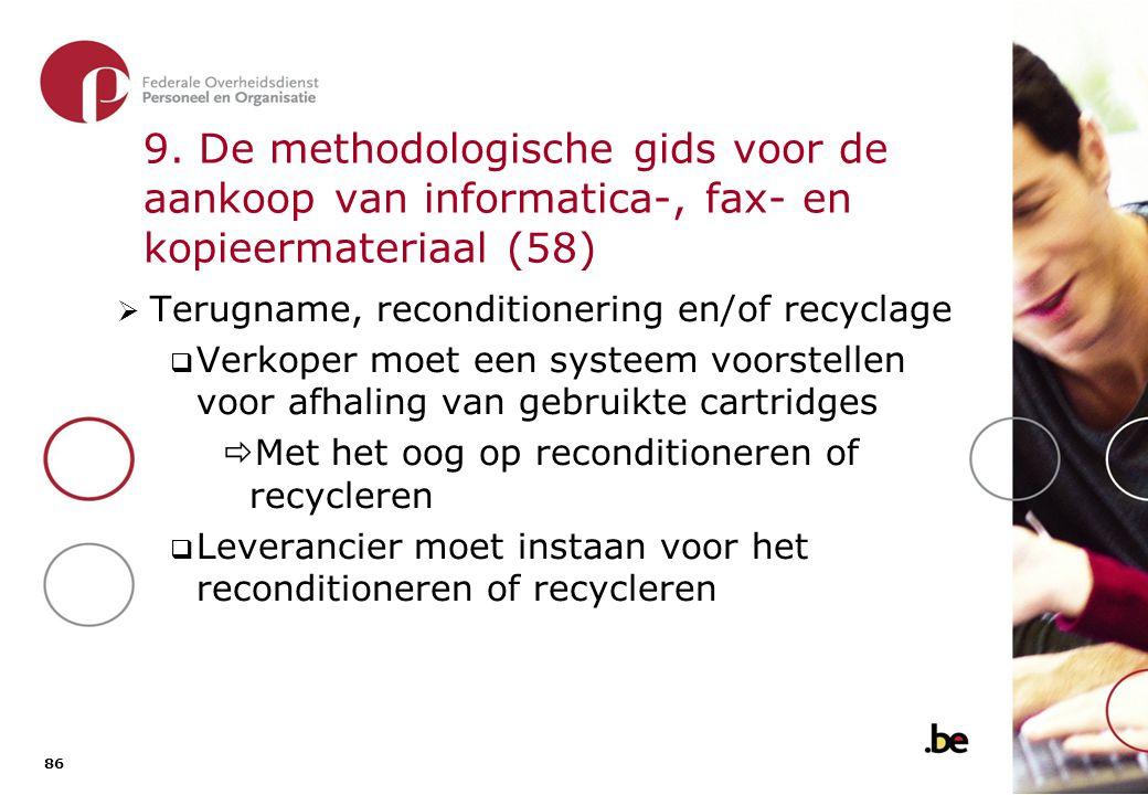 9. De methodologische gids voor de aankoop van informatica-, fax- en kopieermateriaal (59)