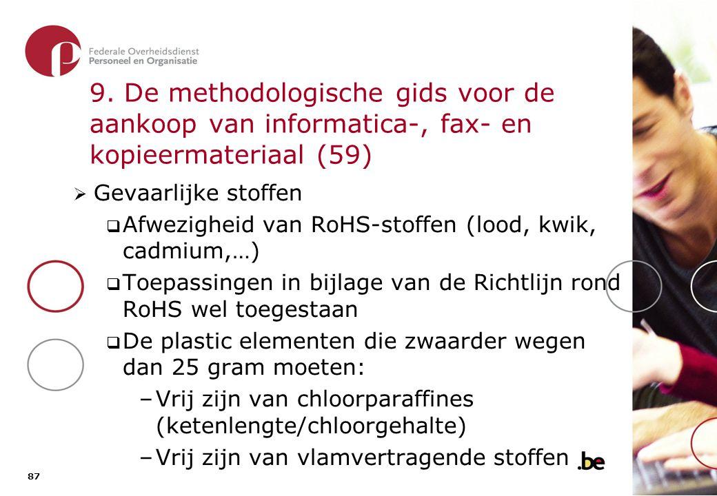 9. De methodologische gids voor de aankoop van informatica-, fax- en kopieermateriaal (60)