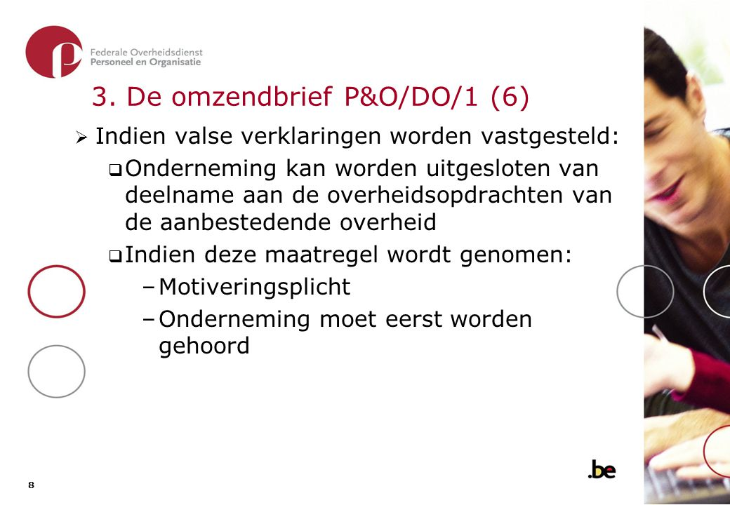 3. De omzendbrief P&O/DO/1 (7)