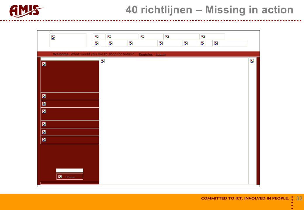 40 richtlijnen – Missing in action
