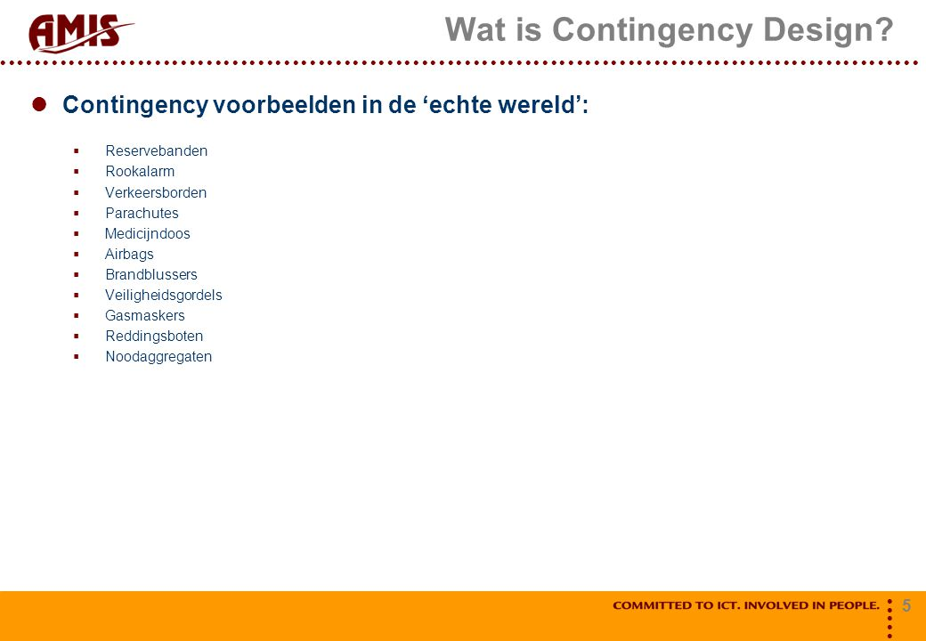 Wat is Contingency Design