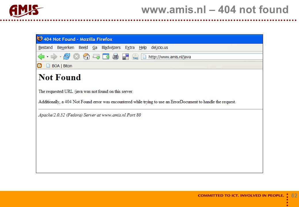 www.amis.nl – 404 not found