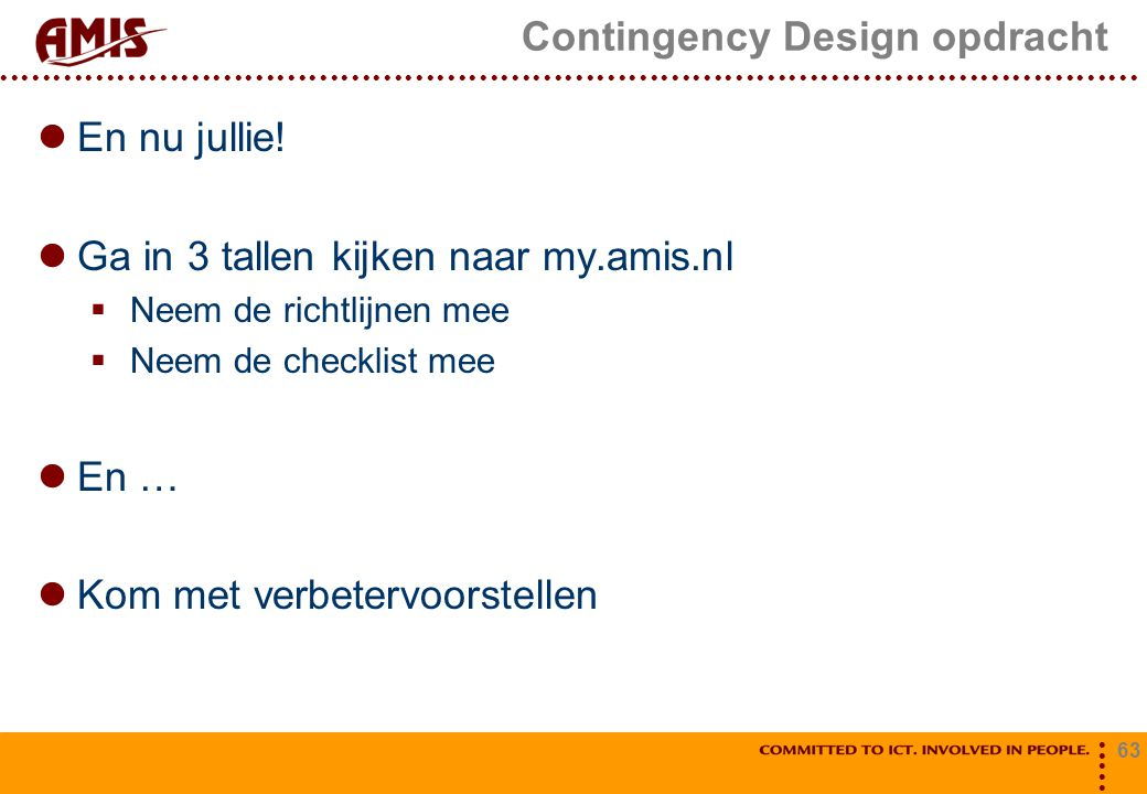 Contingency Design opdracht