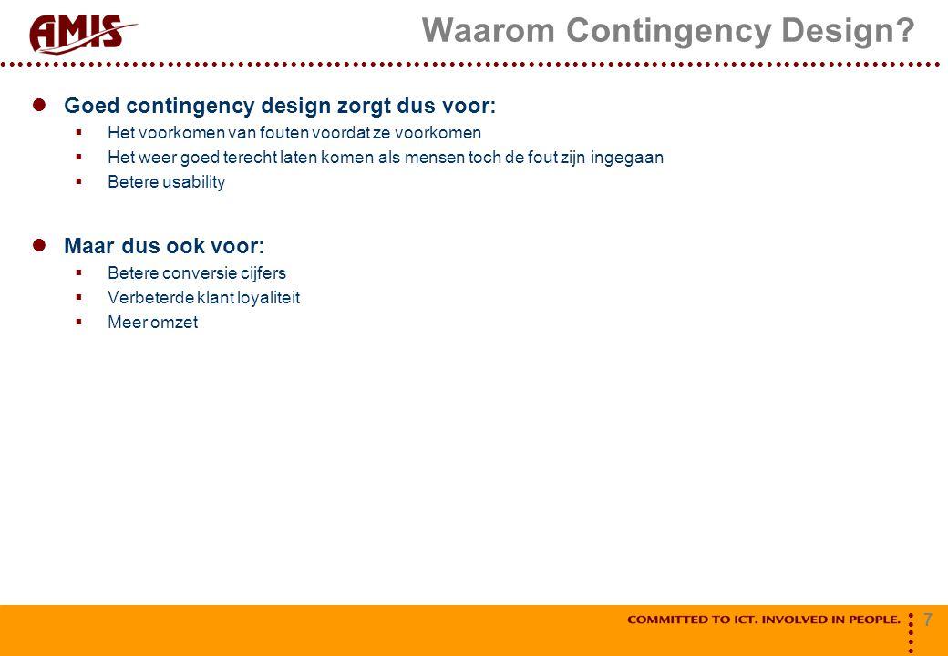 Waarom Contingency Design