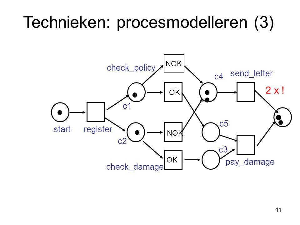 Technieken: procesmodelleren (3)