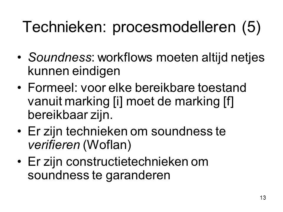 Technieken: procesmodelleren (5)