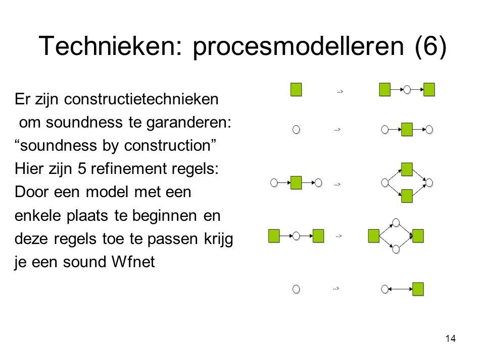 Technieken: procesmodelleren (6)