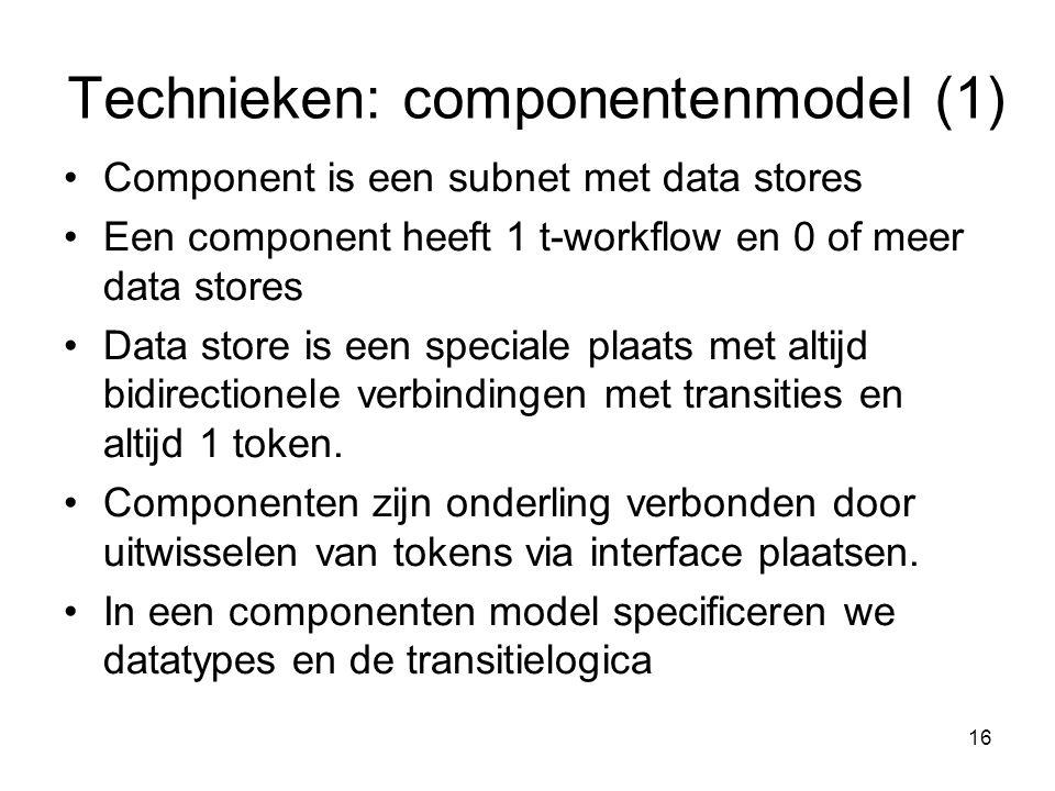 Technieken: componentenmodel (1)