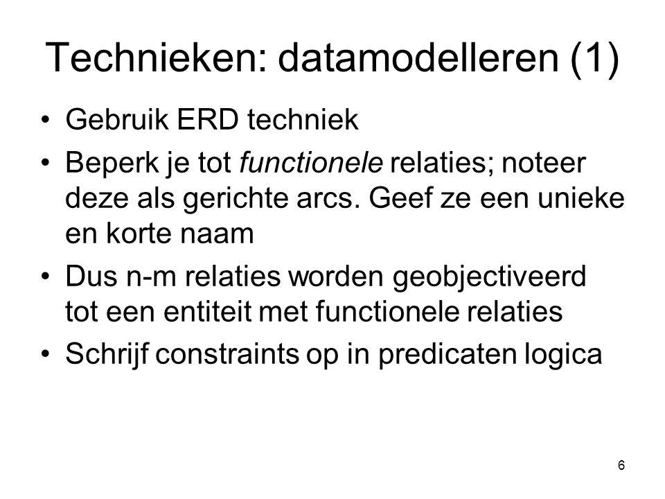 Technieken: datamodelleren (1)