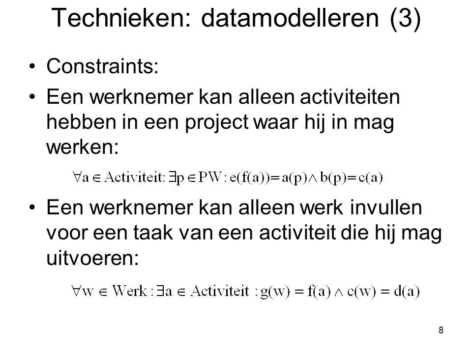 Technieken: datamodelleren (3)