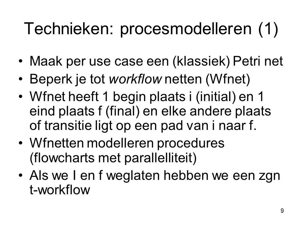 Technieken: procesmodelleren (1)
