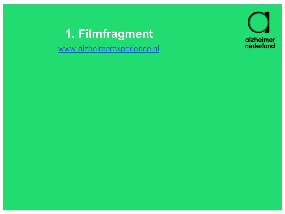 1. Filmfragment www.alzheimerexperience.nl