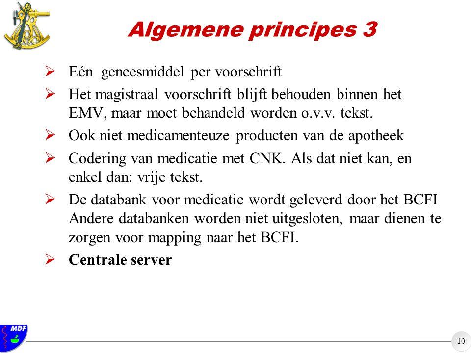 Algemene principes 3 Eén geneesmiddel per voorschrift