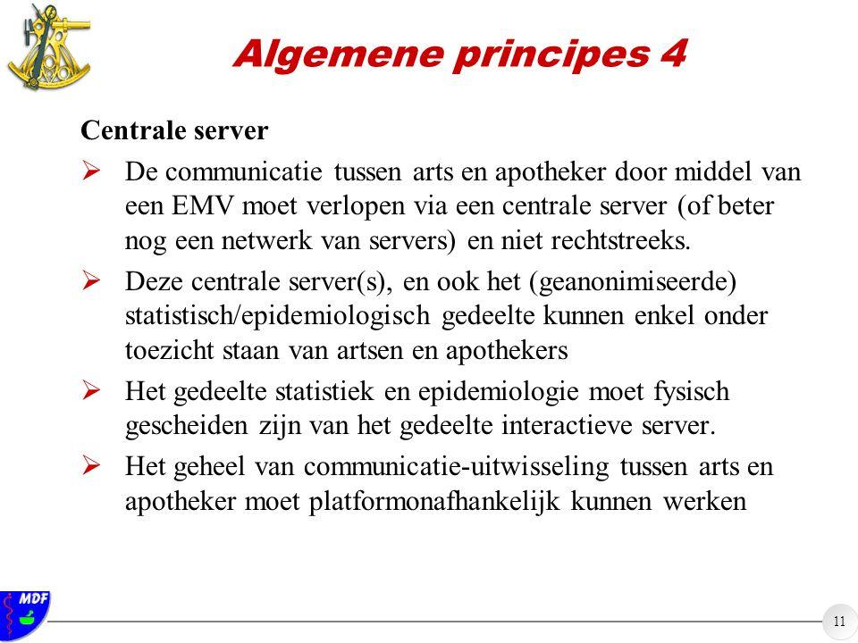 Algemene principes 4 Centrale server