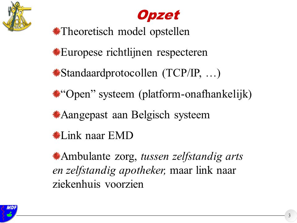 Opzet Theoretisch model opstellen Europese richtlijnen respecteren
