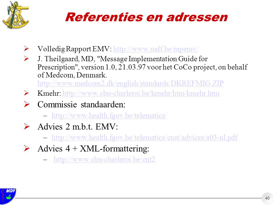 Referenties en adressen