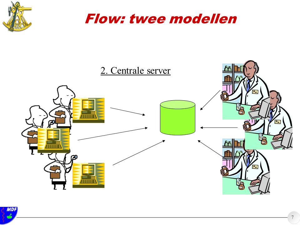 Flow: twee modellen 2. Centrale server