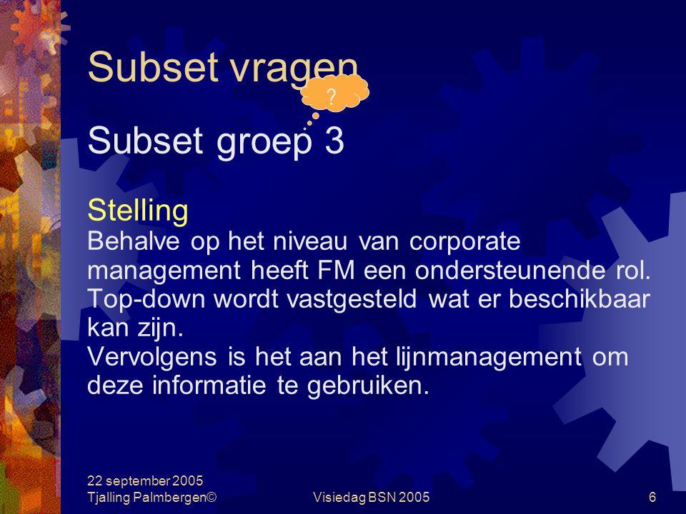 Subset vragen Subset groep 3 Stelling