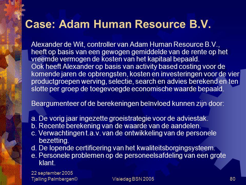 Case: Adam Human Resource B.V.