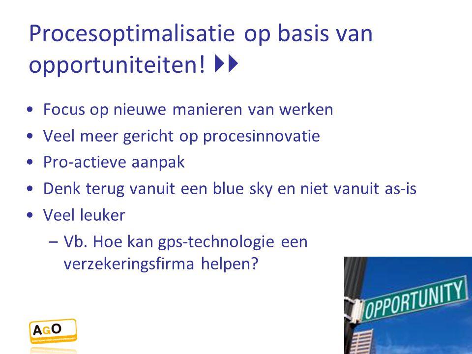 Procesoptimalisatie op basis van opportuniteiten! 