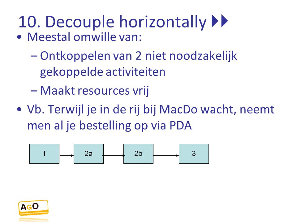 10. Decouple horizontally 