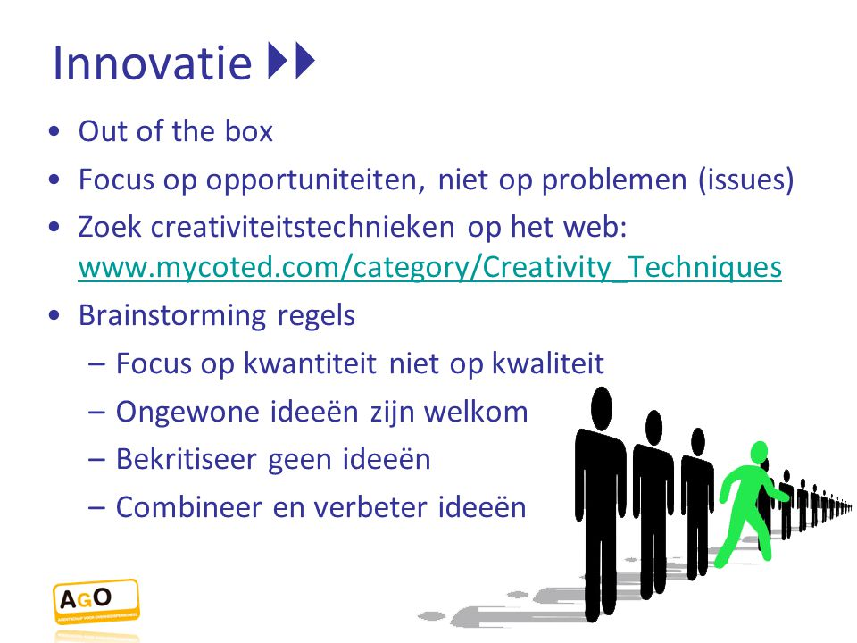 Innovatie  Out of the box