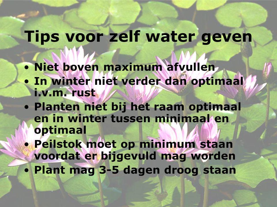 Tips voor zelf water geven