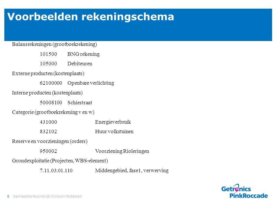 Boekingscombinatie Grootboekrekening Kostenplaats / Order / WBS-element Soort. 101500 Balans.