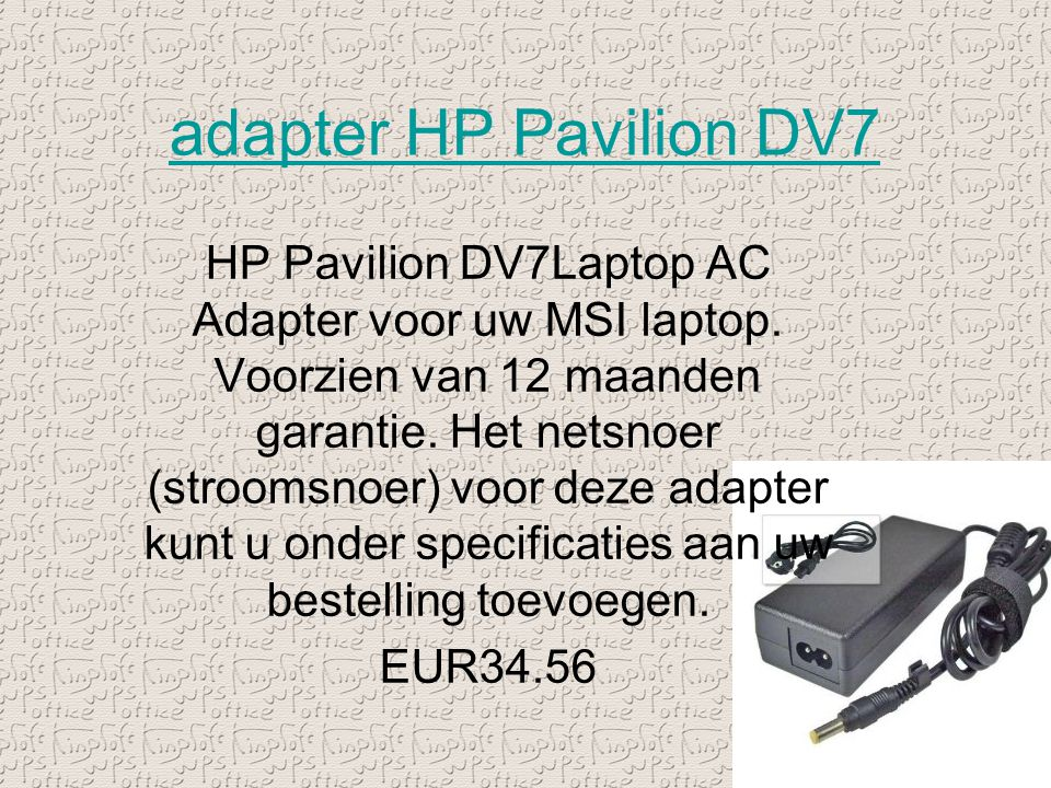adapter HP Pavilion DV7