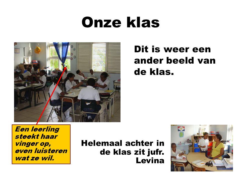 Onze klas Dit is weer een ander beeld van de klas.