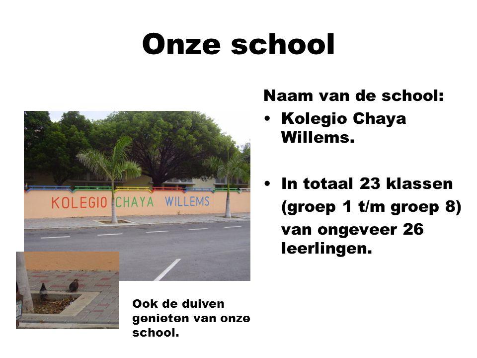 Onze school Naam van de school: Kolegio Chaya Willems.