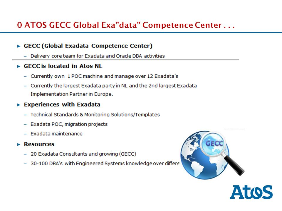 0 ATOS GECC Global Exa data Competence Center . . .