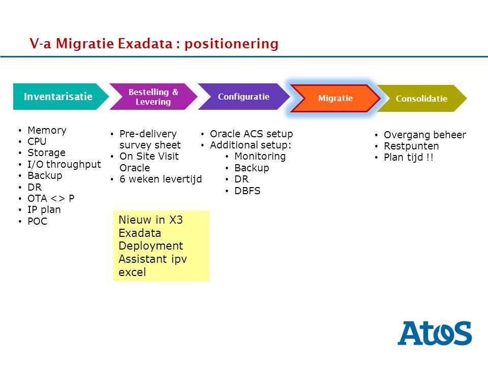V-a Migratie Exadata : positionering
