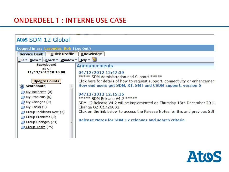ONDERDEEL 1 : INTERNE USE CASE