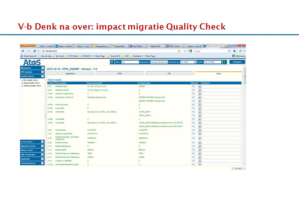 V-b Denk na over: impact migratie Quality Check